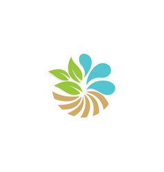 Eco leaf water bio business logo vector
