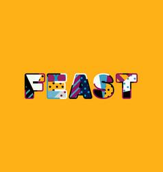 feast concept word art vector image