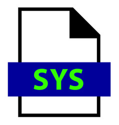 File name extension sys type vector