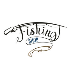 Fishing shop vector