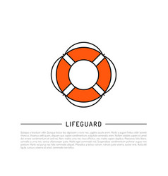 flat icon lifebuoy vector image