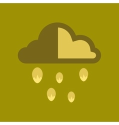Flat icon on stylish background cloud hail vector