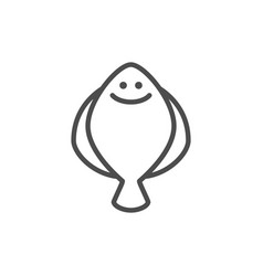 flatfish line outline modern icon vector image