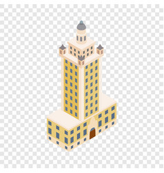 Freedom tower in miami isometric icon vector