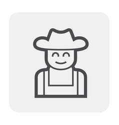gardener icon black vector image