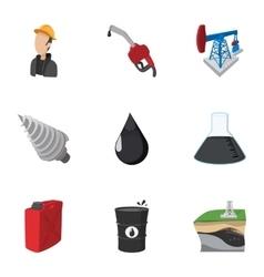 Gasoline icons set cartoon style vector image