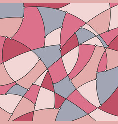 Geometric background in dusty rose color vector