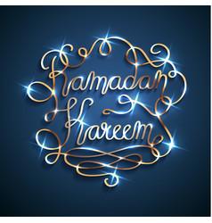 Golden islamic ramadan kareem celebration vector
