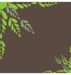 green leaves vector illustration vector image