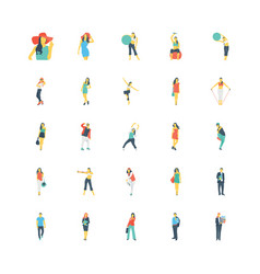 human color icons 6 vector image