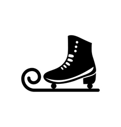 Ice skate icon vector image