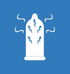 Icon on background condom and spermatozoa vector