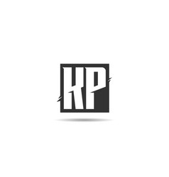 initial letter kp logo template design vector image