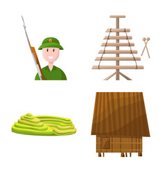 Isolated object travel and country symbol vector