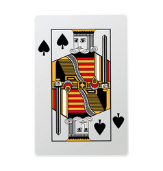 King of spades playing cards vector