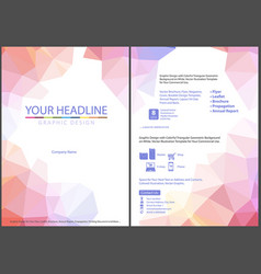 leaflet template with triangular background vector image