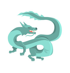 Legendary blue chinese dragon mythical and vector