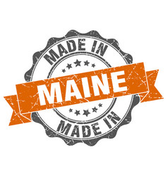 Made in maine round seal vector