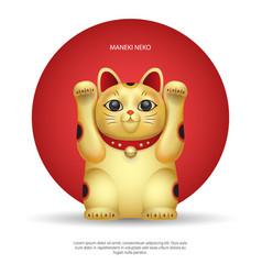Maneki-neko lucky japan cat vector