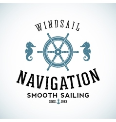 Maritime Navigation Abstract Logo Template vector image