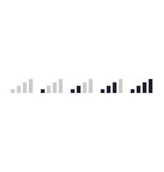 mobile signal bar black icon set phone signal vector image