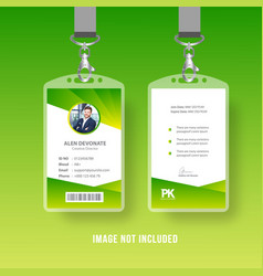 modern business id card vector image