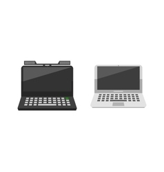 Modern laptop computer vector image
