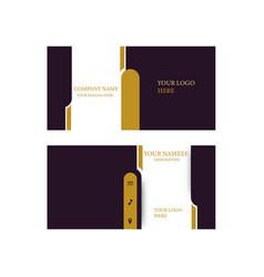 Name card design vector