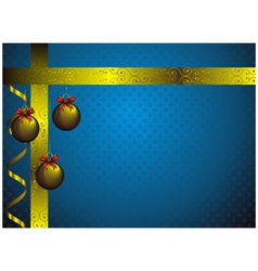 new year card with golden christmas decorations vector image
