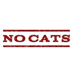 No Cats Watermark Stamp vector image