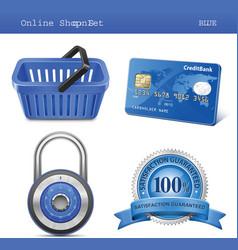 Online store icon set vector
