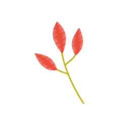 Orange leaves branch image sketch vector