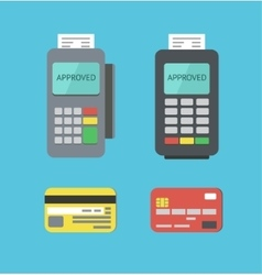 Payment Terminals And Plastic Cards vector