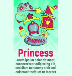 princess concept banner cartoon style vector image