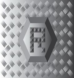 R Text Aluminium Wallpaper vector