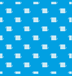 radiator pattern seamless blue vector image