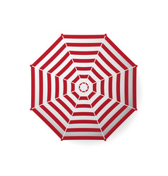 Realistic beach umbrella striped vector