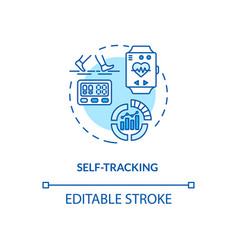 Self tracking concept icon vector