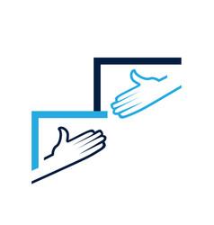 shake hands symbol vector image