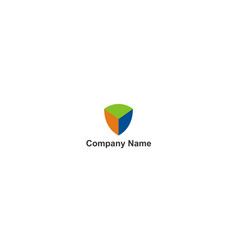 shield block secure technology company logo vector image