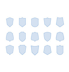shield line military or medieval badges blank vector image