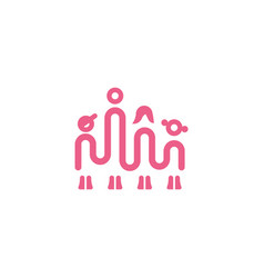 simple linear icon with dad mom son and daughter vector image