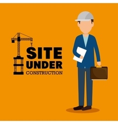 Site under construction man manager icon vector