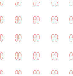 Slippers icon pattern seamless white background vector