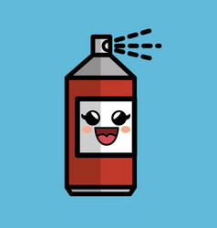 spray paint comic character icon vector image