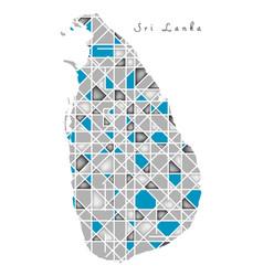 Sri lanka map crystal diamond style artwork vector