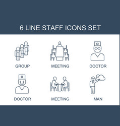 staff icons vector image