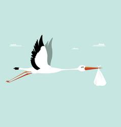 Stork delivering ba- its a boy vector