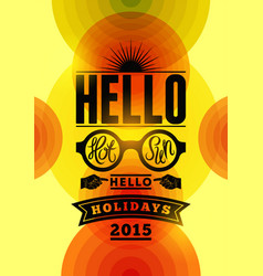 summer typographical design with colorful circles vector image