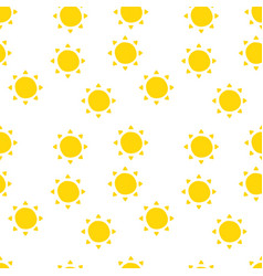 sun pattern for summer in background vector image